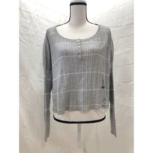 Holister distressed sweater top